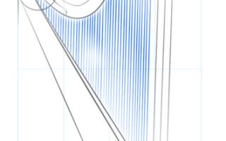 Как нарисовать арфу — пошаговая инструкция