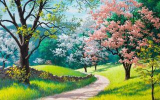 Нарисованные картинки весна