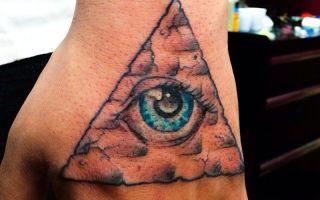 55 татуировок с пирамидами: фото, эскизы и их значение