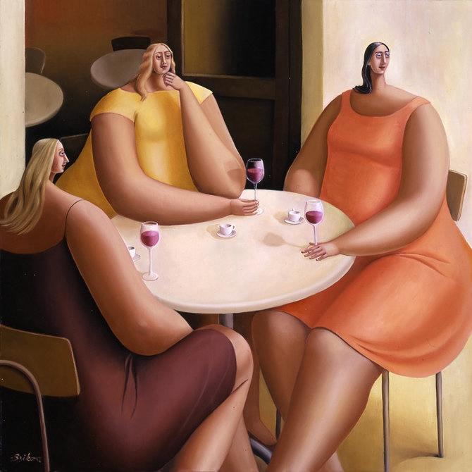 Смешные картинки демонстрирующие жизнь пышечек и худых женщин
