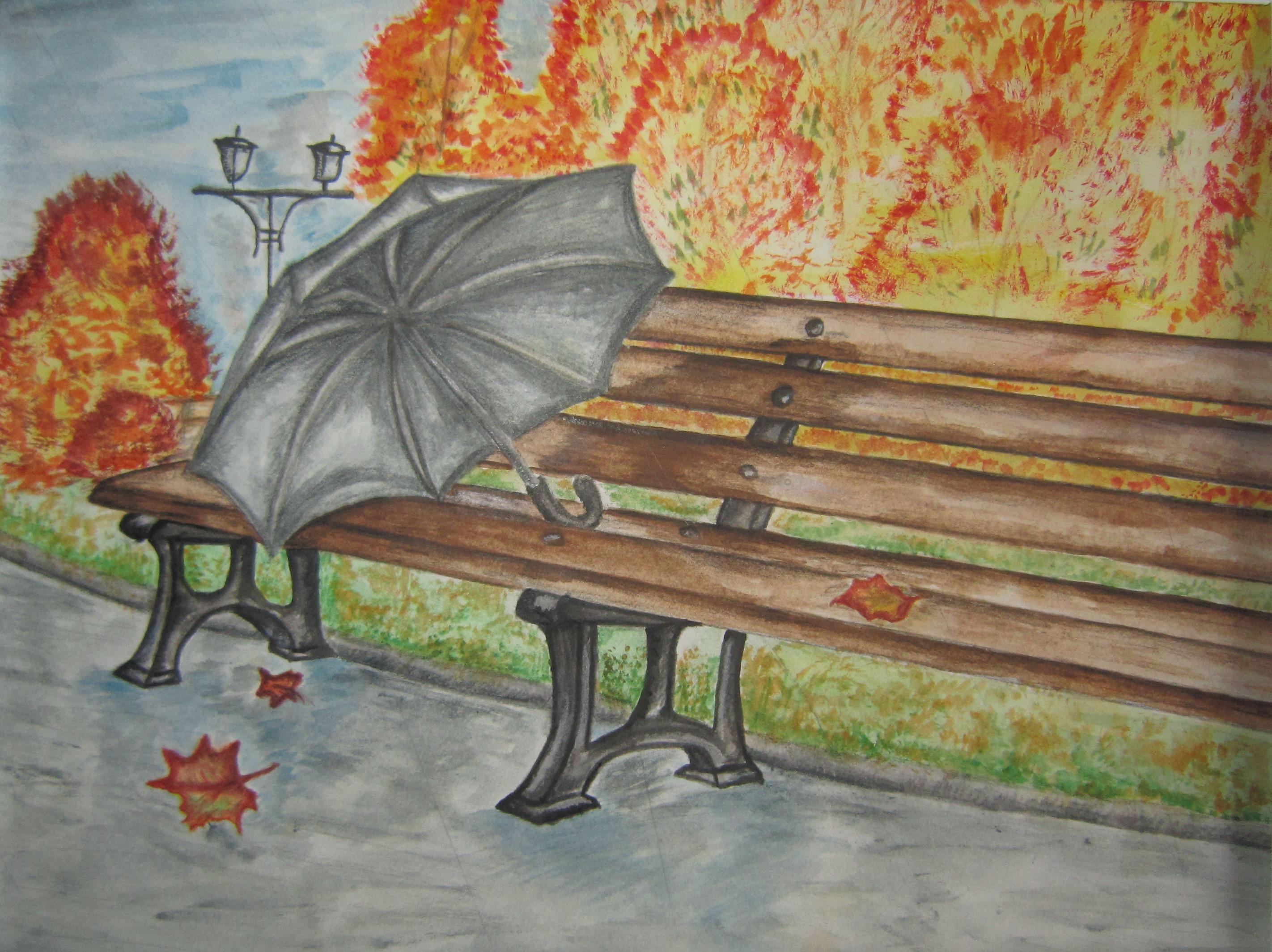Картинки осени чтобы срисовать