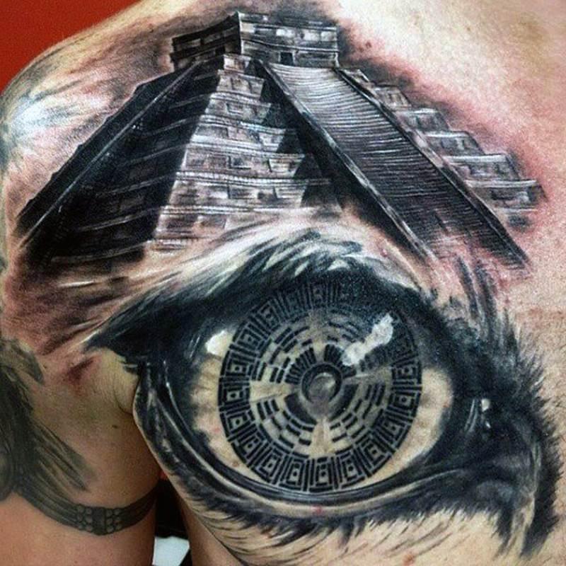тату пирамиды на шее фото очень долго выбирали